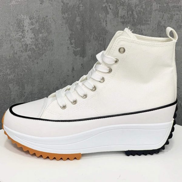 High Hike Platform Trainers in White
