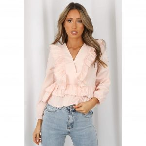 Pink Ruffle Lace Top
