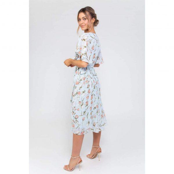 Zara Blue Floral Midi Dress