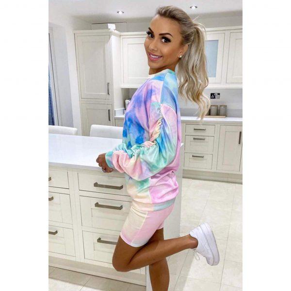 Rainbow Sweatshirt & Cycling Shorts