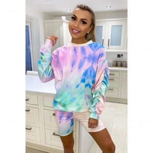 Rainbow Sweatshirt & Cycling Shorts