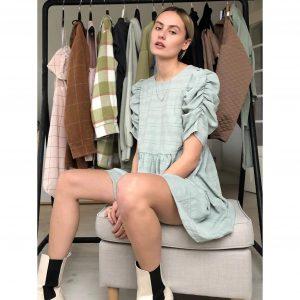 Victoria Sage Green Smock Dress