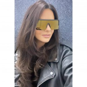 Flatbrow Square Sunglasses Gold