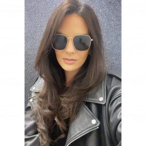 Hexagon Aviator Sunglasses Gold
