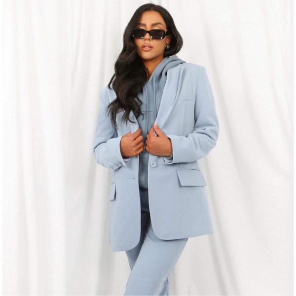 Oversized Tailored Blazer Blue