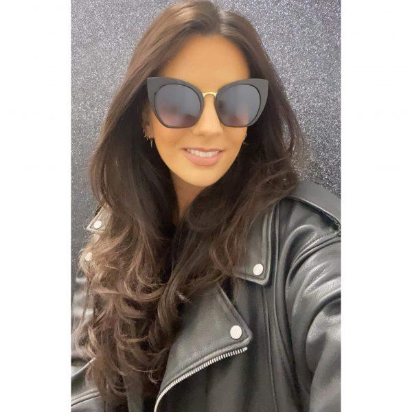Chunky Cat Eye Sunglasses Black