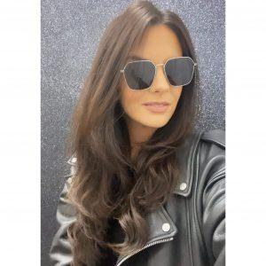 Hexagon Aviator Sunglasses Silver