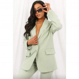 Oversized Tailored Blazer Mint Green