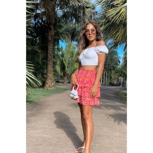 Pink & Orange Frill Skirt