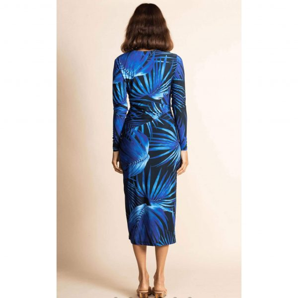 Dancing Leopard Goldie Dress Bright Blue Palm