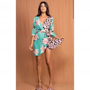 Dancing Leopard Teagan Dress Sage Tulip Mix