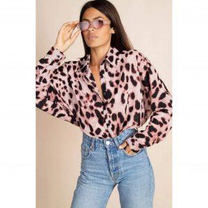 Dancing Leopard Keaton Shirt Blush Leopard
