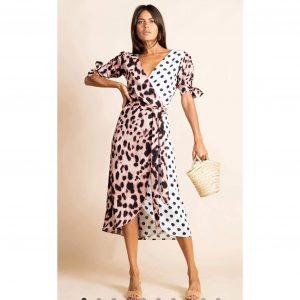Dancing Leopard Olivera Dress Blush Leopard Mix
