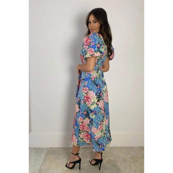 Lilith Floral Puff Sleeve Midi Dress