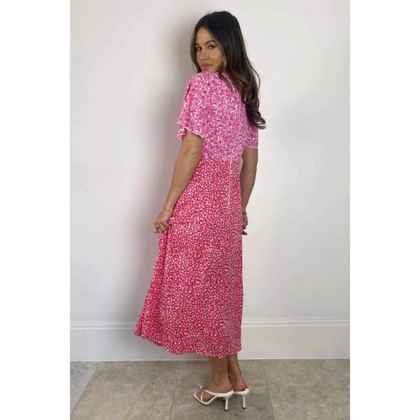 Zoe Angel Hot Pink Mix Dress