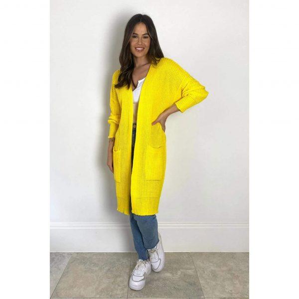 Miami Nights Pocket Cardigan Yellow
