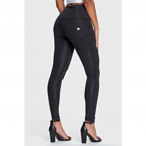 Freddy Black Denim High Waist 3 button Jeans (7/8 length)