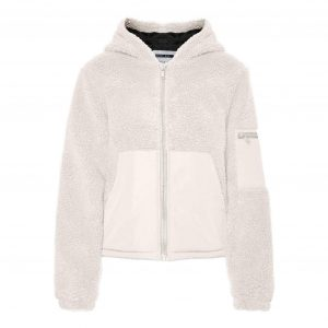 Cream Teddy Hooded Jacket