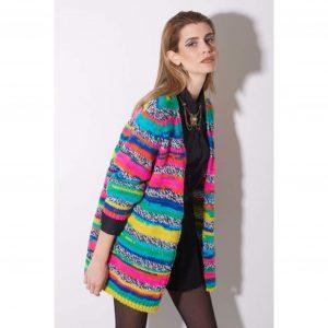 Multi Colour Knit Cardigan