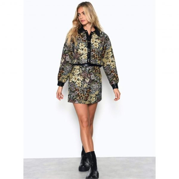 Jacquard Print Skirt